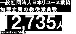 一般社団法人 日本リユース業協会加盟企業の総従業員数35,926人
